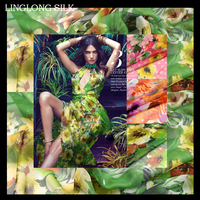 PRINT SILK CHIFFON FABRIC 6mm Width 53 135cm100 Natural Silk Chiffon Fabric Meter Painting Silk Fabric