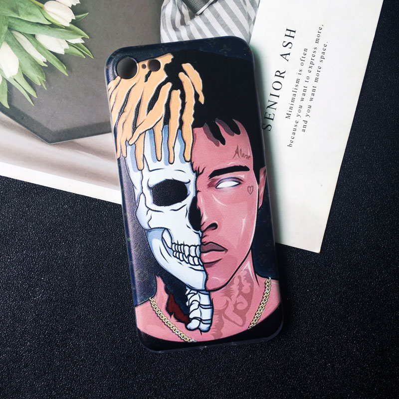 Rappers Xxxtentacion Cartoon Lil Pump Wallpaper Phone Case For