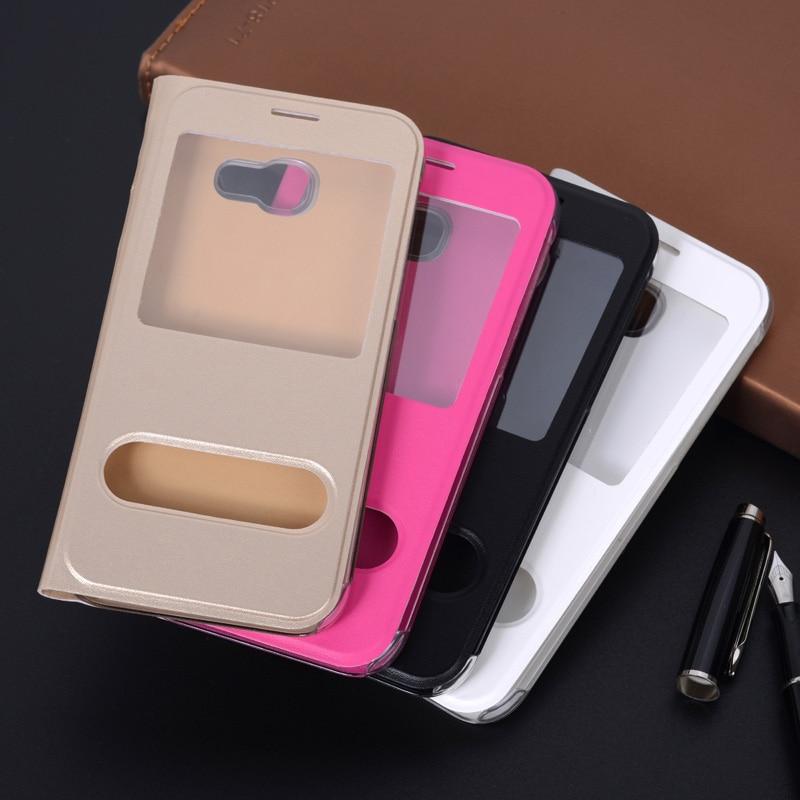 360 Flip Cover Kulit Telepon Kasus Untuk Samsung Galaxy A3 A5 A7 2017 - Aksesori dan suku cadang ponsel - Foto 6