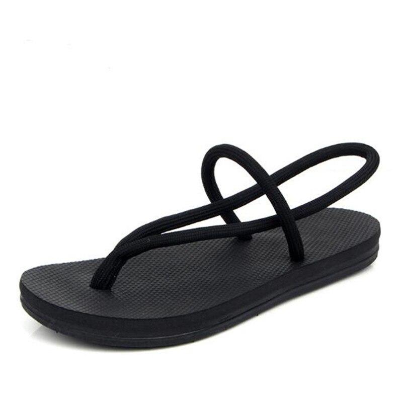 3eb364212c9 Moda Negro Sandalias Nuevas Romana Harajuku Plana Simple Estudiantes Verano  rojo 2018 De Femenino Salvaje Playa Xqgw1UC