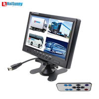 HaiSunny 9 Inch 6 model disaplay Quad Split Screen Monitor 4CH Video Input Parking Dashboard for Car parking Security monitoring
