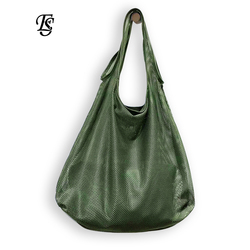 E.SHUNFA Brand Mesh hollow Network female bag 2018 new arrival High capacity fashion shoulder bag shopping women's handbag