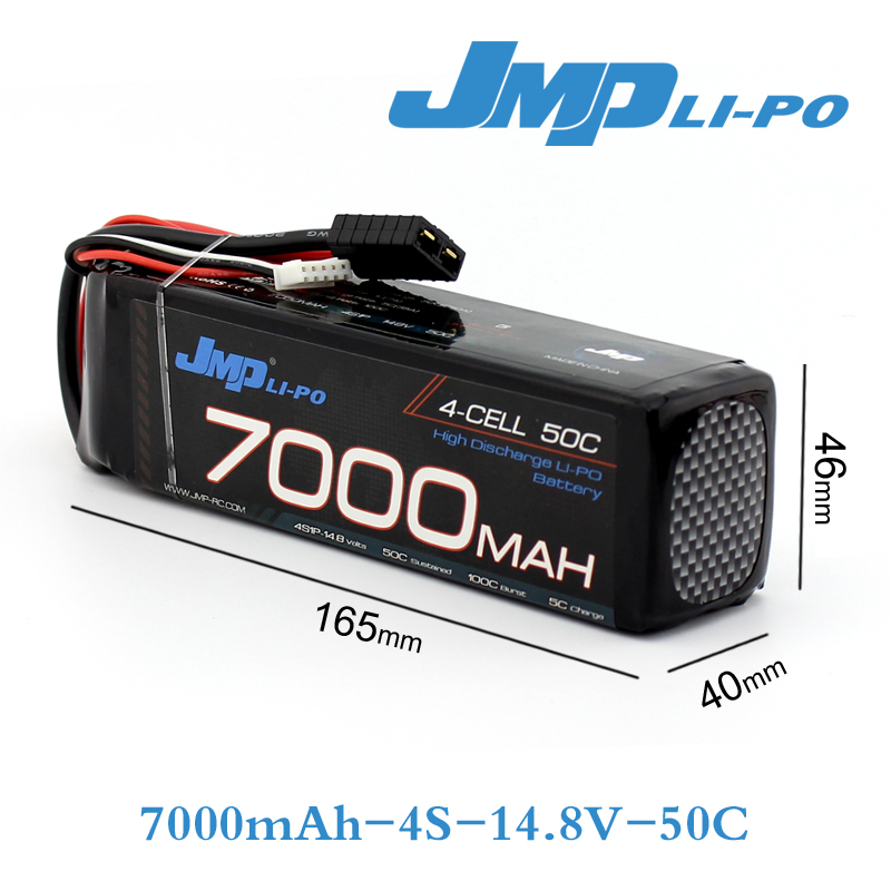 jmp lipo battery 4s 7000mah lipo 14 8v battery pack 60c for 1 5 car 1 8 rc car for traxxas x. Black Bedroom Furniture Sets. Home Design Ideas