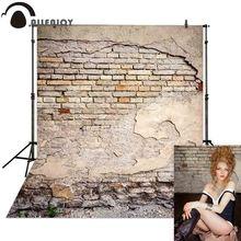 Allenjoy บทคัดย่อกำแพงอิฐฉากหลังหักเก่าพื้นหลัง photophone photocall Photobooth สำหรับ Photo Studio