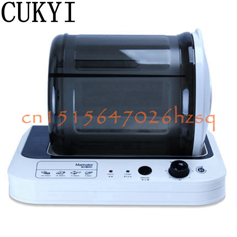 CUKYI 220V 20W Household vacuum pickling machine small commercial chicken burger marinated bacon fried chicken flavor machine 7l electric vacuum food pickling machine household 2018 vacuum food marinated machine commercial meat fried chicken marinator
