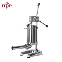 ITOP 2L Vertical Sausage Stuffers Manual Sausage Filler Stainless Steel Meat Filling Machine Kitchen Food Processors|Food Processors| |  -