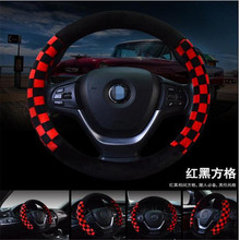 Comfortable Soft 3 Colors Flocking font b Car b font Steering Wheel Cover Women s 38cm