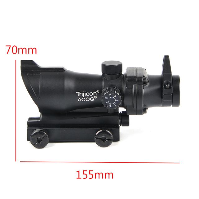 ACOG 1X32 Tactical Red Green Dot Sight Illuminated Optical Rifle Scope With 20mm Rail For Airsoft Gun 4