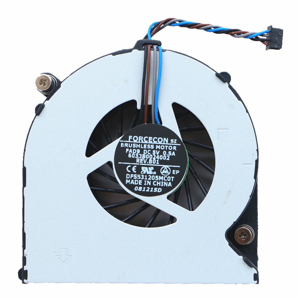HP 4530S 6460B EliteBook 8460P 8470P Cpu soyuducu fan DFS531205MC0T FAD9 6033B0024002 DC5V 0.5A üçün yeni orijinal Cpu fan.