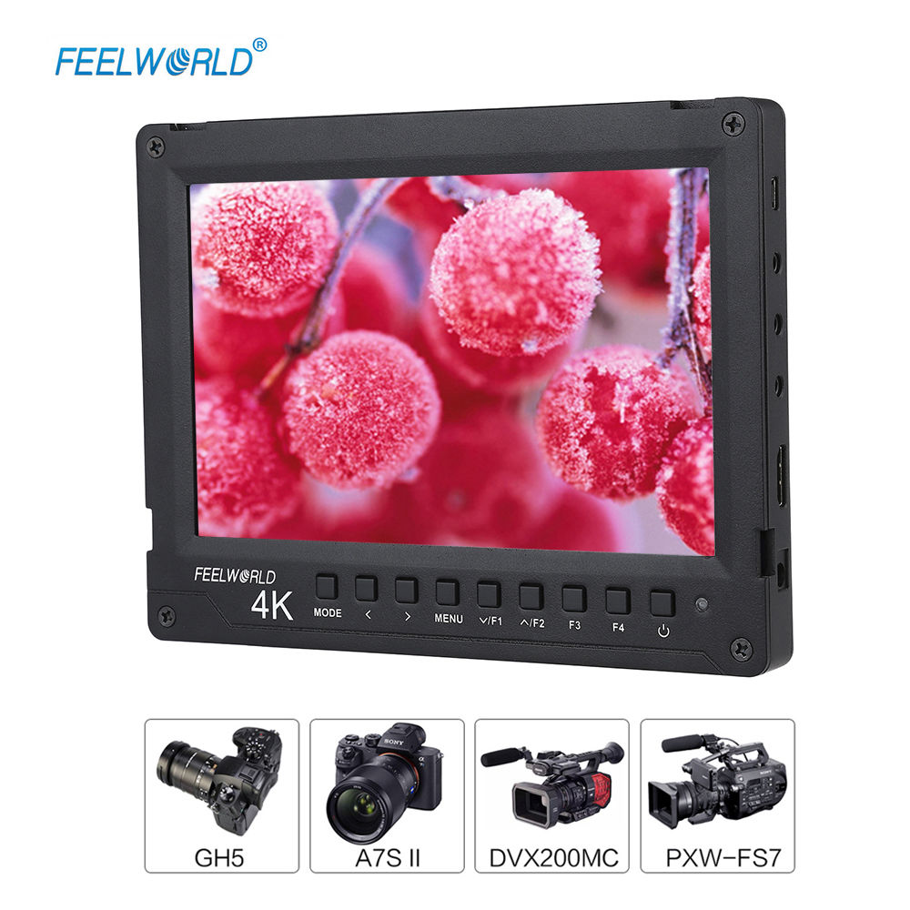 Feelworld A737 Clip-on Camera Single Screen LCD 7 Full HD 4K 1920x1200 HDMI Monitor 160 degree Wide View With F970 Battery lilliput tm 1018 o p 10 1 led ips full hd hdmi field touch screen camera monitor with hdmi input