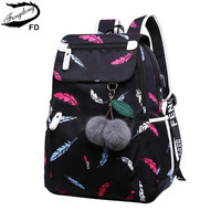 FengDong school bags for teenage girls waterproof school backpack usb bookbag children's backpack child laptop bag dropshipping