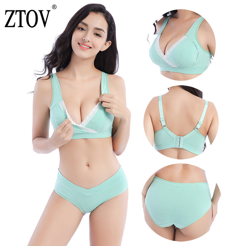 ZTOV Maternity Underwear Bra+panty Briefs Nursing Bra For Feeding Pregnant Women Sports Sleep Breastfeeding Nurse Bras Clothing