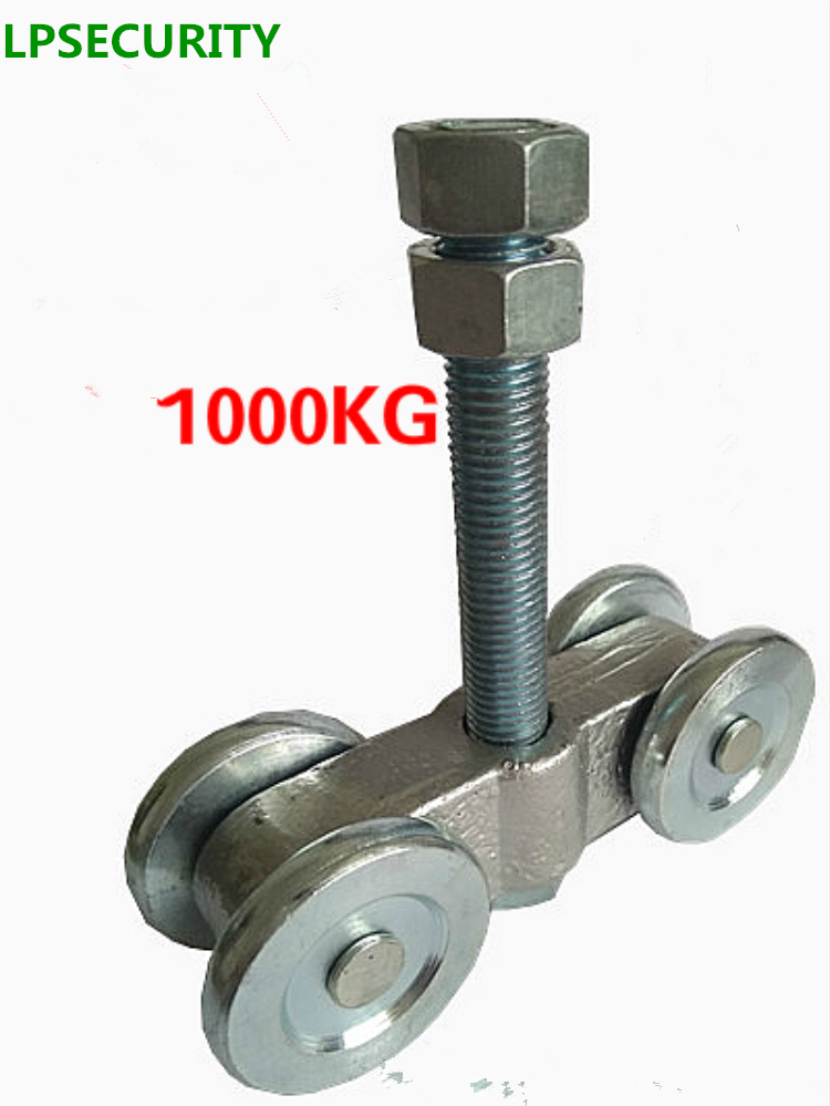 LPSECURITY 1000kg loading industrial sliding gate opener door upper wheel roller pulley for steel wooden gate door lpsecurity sliding gate opener motor
