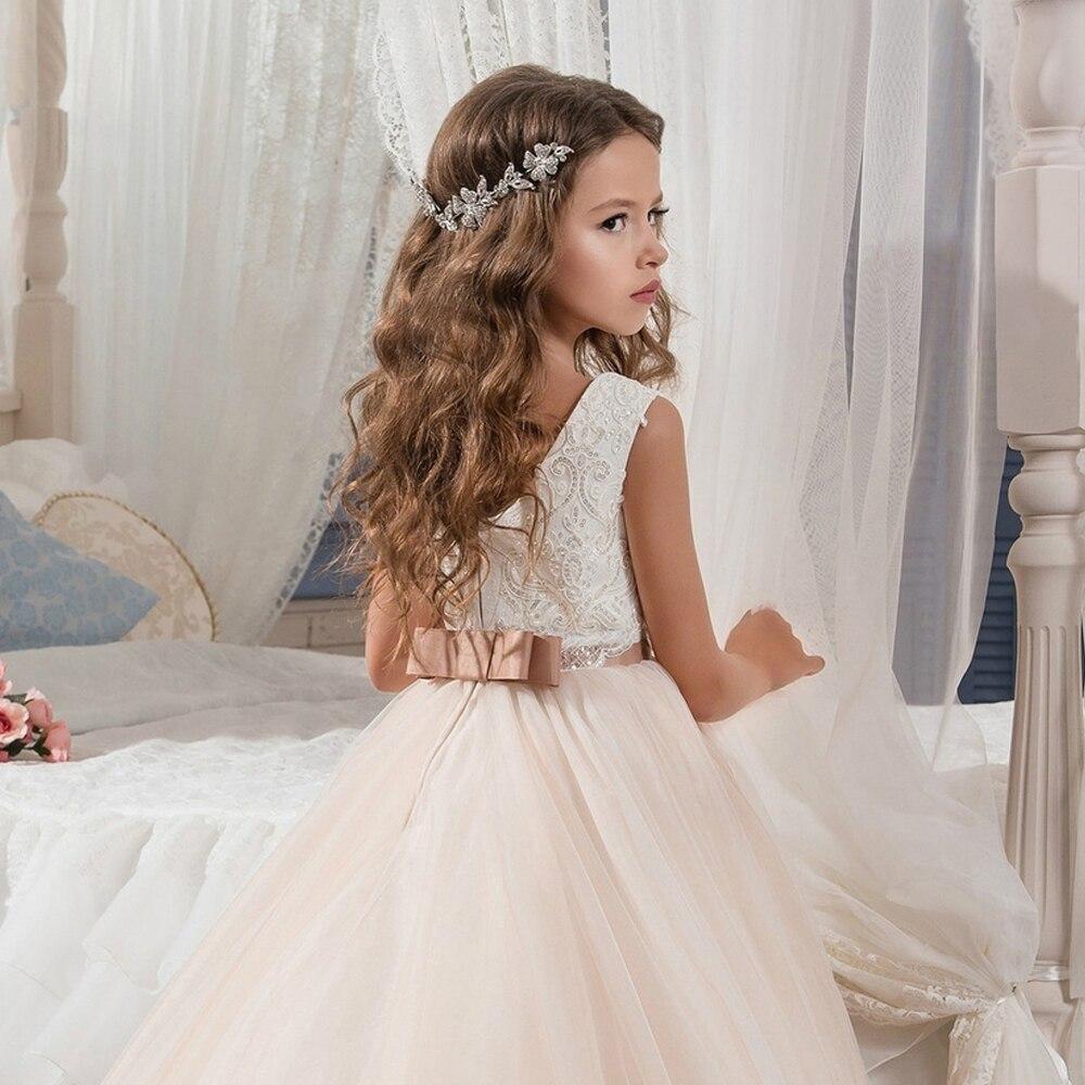 Yinew M/ädchen Kleid M/ädchen Blumen Bogen Plus Samtkleid Winter Kleid Navy 80-90