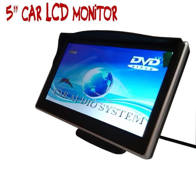 "5 ""polegadas monitor do carro Cor TFT LCD a Cores vídeo DVD player de áudio do carro auto para o Carro Reversa câmera de vídeo"