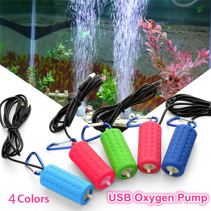 Mini USB Aquarium Oxygen Air Pump Aquatic Terrarium Fish Tank Accessories Portable Mute Energy Saving Supplies