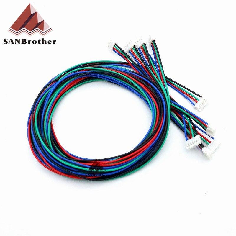 3D Printer Cables HX2.54 4P-PH2.0 6P UM2 Ultimaker 2 Extended + Stepper Motor Cable Wholesale Top Qu