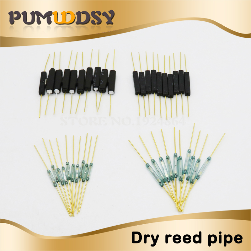 Open-Minded 10pcs Reed Switch Plastic Type Mka14103 Mka10110 Gps-14b Gps-14a 2*14mm Anti-vibration Damage Magnetic Switch Nc Normally Closed Latest Technology