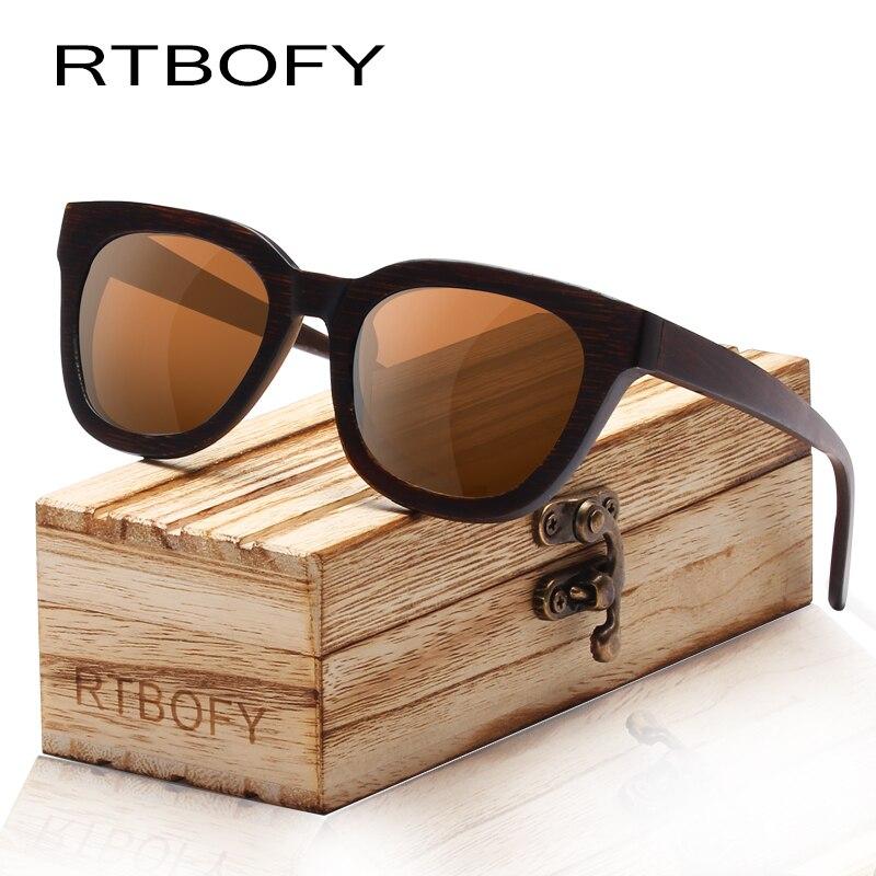 f5f8a180fd RTBOFY Sunglasses Men Brand Design Bamboo Steampunk Vintage Polarized Wood  Sunglasses UV400 Sun Glasses For Men Eyewear -in Sunglasses from Apparel ...