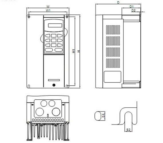VFD110V43B-2 11KW 15HP 380 В 3 фазы переменной частоты VFD-VE 3PH вход 3PH выход в коробке с гарантия 1 год