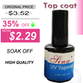 2015 TOP COAT New 14ML Nail Art Soak Off Color for UV Gel 0.5fl oz Faster Drying Longer lasting acrylic obligomer ethanol dries