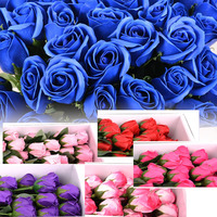 50pcs decorative Artificial rose Flower Heads for Wedding party Decoration DIY Wreath Gift Box Scrapbooking Craft Fake Flowers