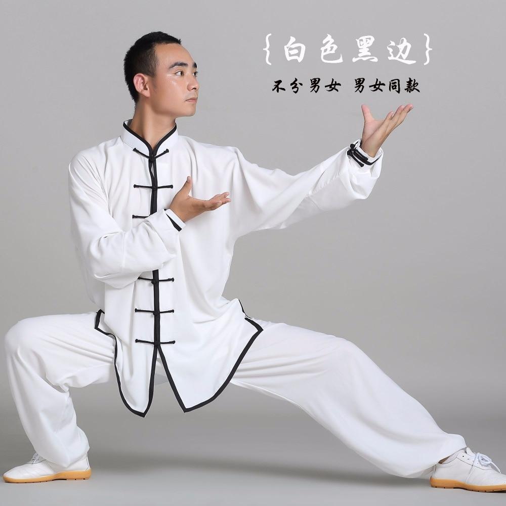 Unisexe qualité coton + soie Tai Chi costume hommes femmes enfant uniforme art martial kung fu vêtements cadeau chine exercice costume