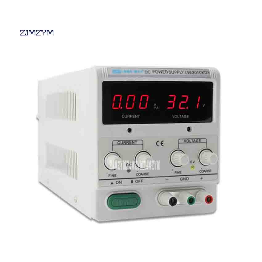 ZJMZYM LW-K3010KDS 30V 10A Adjustable DC Voltage Regulator Switching Power Supply Digital Display Notebook Repair Power Supply four digit display rps3003c 2 adjustable dc power supply 30v 3a linear power supply repair
