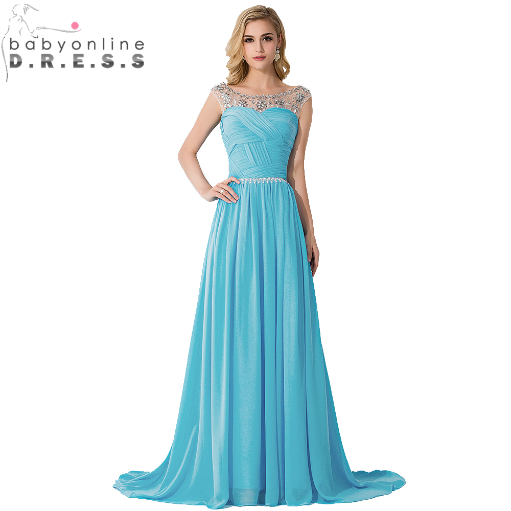 Aliexpress.com : Buy Elegant Chiffon Formal Long Dresses Evening ...