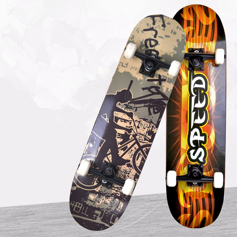67-008 adult primary professional maple four double alice children brush street board skateboard skateboarding 6 5 adult electric scooter hoverboard skateboard overboard smart balance skateboard balance board giroskuter or oxboard