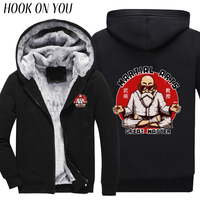 2017 Winter Mannen Sweatshirts Grappige Anime Dragon Ball Z Master Roshi Print Thicken Hoodies Warm Bovenkleding Casual Jas Thermische Tops