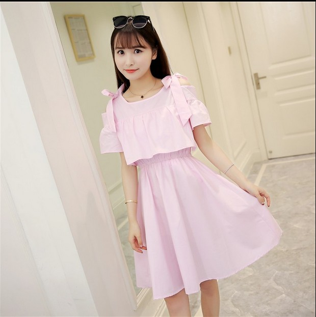 281c3770c7c Summer school girls high school students summer dress girls small fresh  sweet wind in long