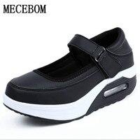 2017 Shoes Women Sneakers Outdoor Walking Shoe Inside Increasing High Casual Woman Ladies Slim Flats Shoes