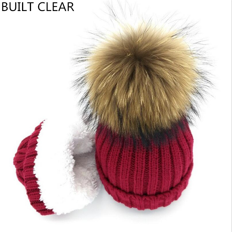 2017 winter new autumn and winter plus cashmere warm curling wool cap leisure wild lady raccoon hair ball 15cm knitted hat zhaohui autumn winter pearl wool hat outdoor hair ball cap warm knitted lady caps