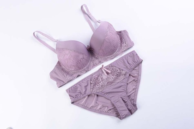 Sexy bra set lace push up women un