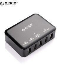 ORICO DCAP-5S 5 Портовый Высокоскоростной Рабочего Smart USB Зарядное Устройство Для Iphone/Ipad/Samsung-Черный