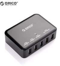 ORICO DCAP-5S 5 Port High Speed Desktop Smart USB Charger For Iphone/Ipad/Samsung – Black
