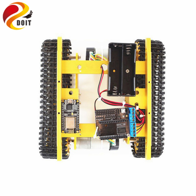 T100 RC Metal WiFi Robot Tank Car Chassis Controlled by Android iOS Phone withNodemcu ESP8266+Motor Driven Board Kit