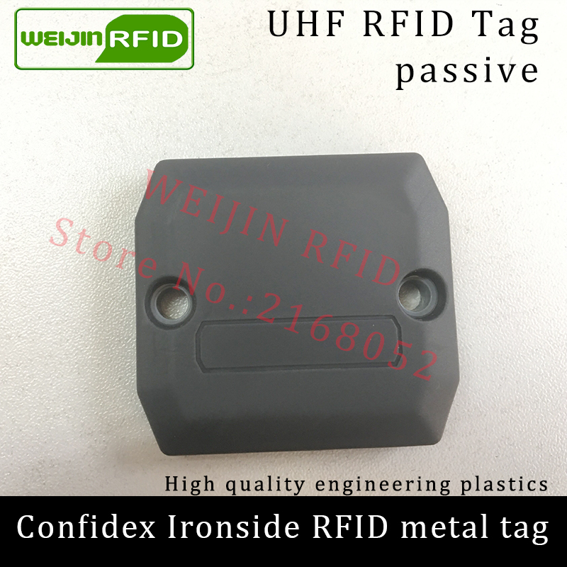 UHF RFID anti-metal tag confidex ironside 915mhz 868mhz Impinj Monza4QT EPCC1G2 6C durable ABS smart card passive RFID tags uhf rfid metal tag 915mhz 868mhz alien higgs3 epcc1g2 6c 53 13 2 8mm fixed assets management pcb smart card passive rfid tags