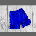 royal blue ruffles leg pants child solid color pants girls toddler ruffles leggings