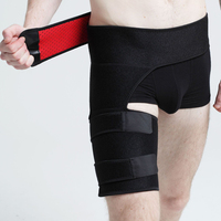 Tcare Adjustable Thigh Compression Wrap With Waist Support Belt Relief And Recovery Boost For Sports Fits