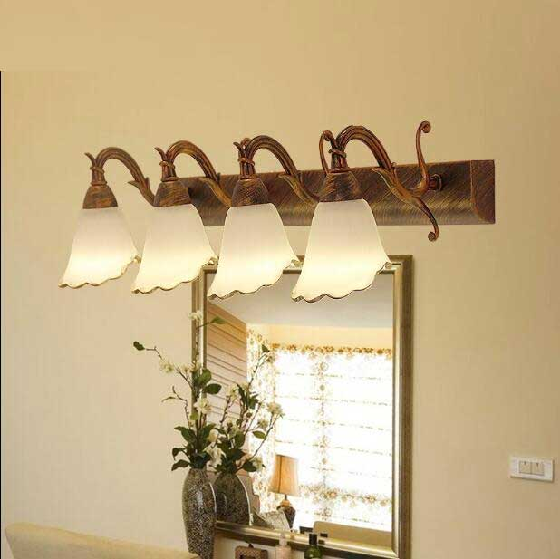 US $85.0 |Klassische 2/3/4 köpfe FÜHRTE spiegel wand lampen badezimmerlampe  spiegel bild lampe schrank badezimmerspiegel lampe wandleuchte ZA93629-in  ...