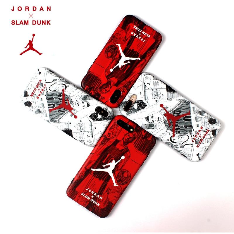 Jordan 23 Slam Dunk japan cartoon sports Soft cover case for iphone 6 6Plus 7 7 plus 8 8Plus X Hanamichi Sakuragi phone cases