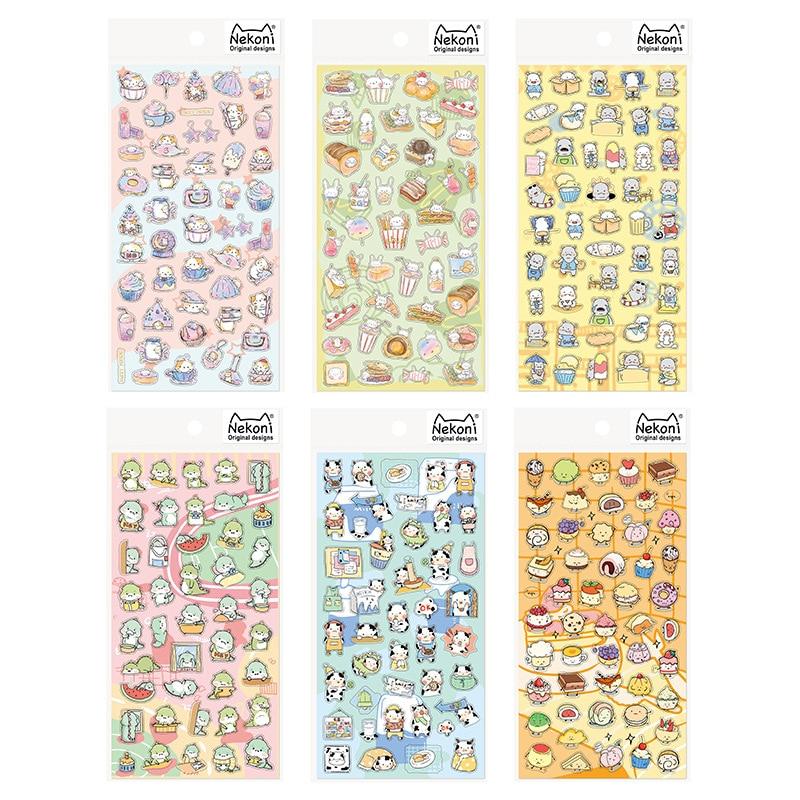 1Pcs Kawaii Stationery Stickers Little Cute AnimalDiary Decorative Mobile Stickers Scrapbooking DIY Craft Stickers