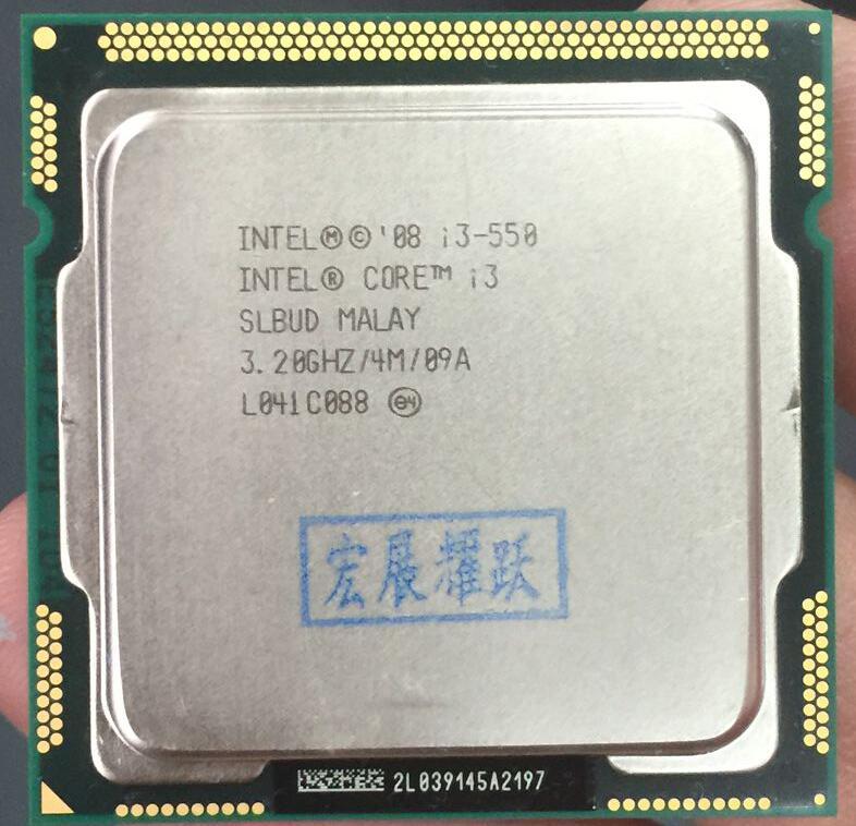 Intel Core I3-550 I3 550  Dual-Core  Processor (4M Cache, 3.20 GHz) LGA1156 Desktop CPU 100% Working Properly Desktop Processor