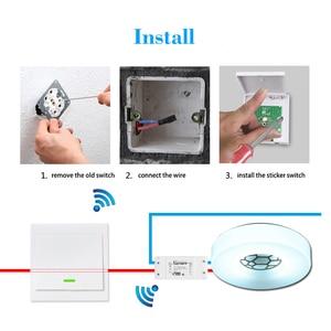 Image 4 - Smart RF Wifi Switch RF 433MHz 10A/2200W Wireless Switch 86 Type ON/Off Switch Panel 433MHz RF WiFi Remote Control Transmitter