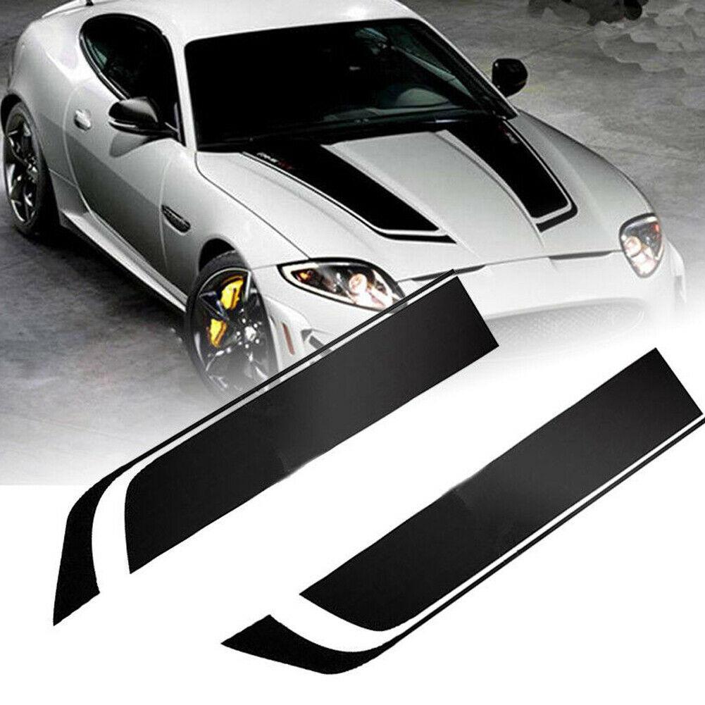 Universal carro array corrida esportes listras capô decalques vinil bonnet adesivos nova moda diy automóveis exterior cabeça adesivos