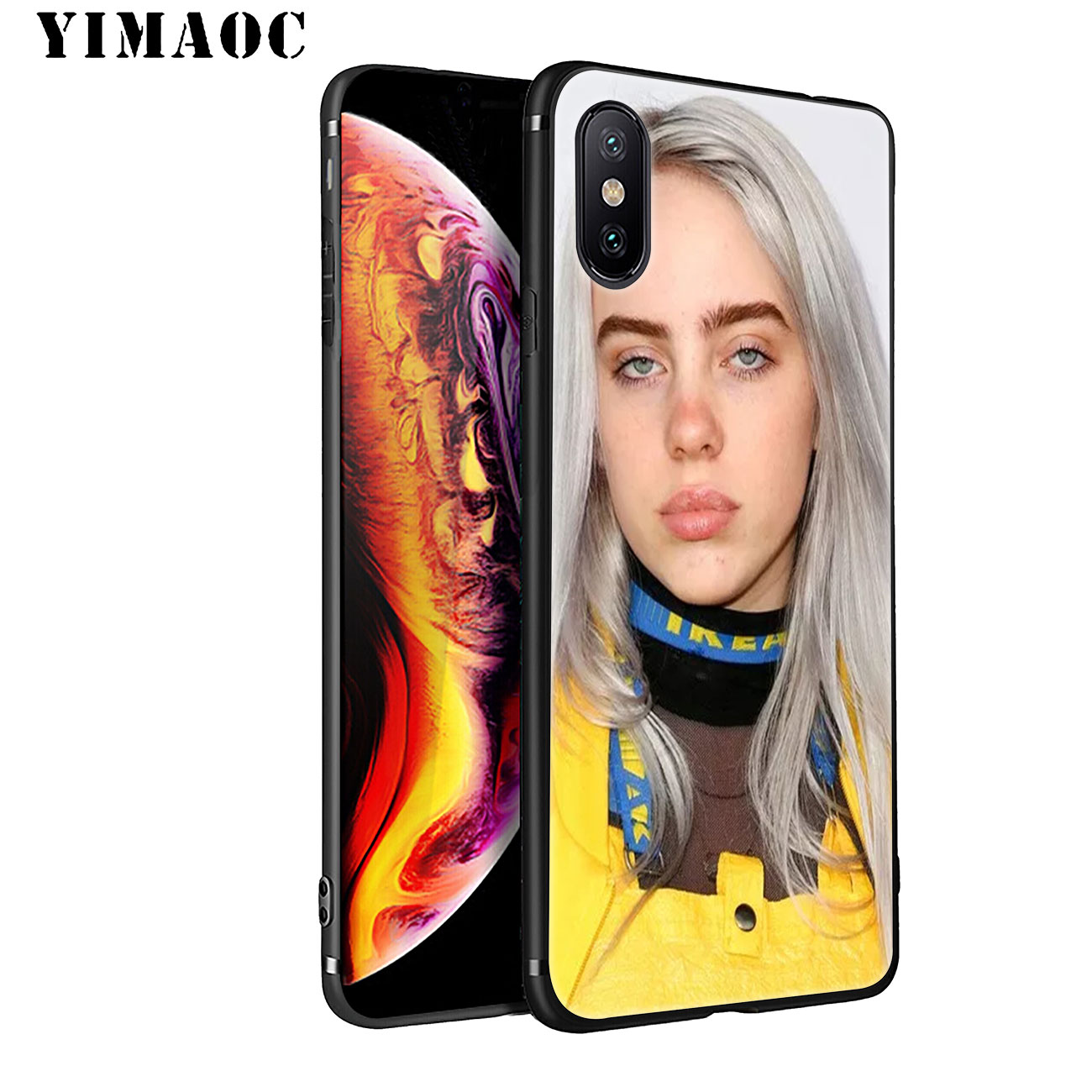 YIMAOC Billie Eilish Hot Music Soft Silicone Phone Case for iPhone 11 Pro XS Max XR X 6 6S 7 8 Plus 5 5S SE 10 TPU Black Cover in Fitted Cases from Cellphones Telecommunications