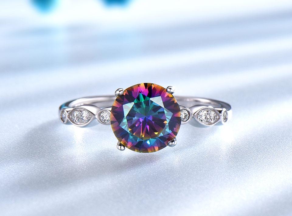 HTB1e7QDqnlYBeNjSszcq6zwhFXat UMCHO Genuine Rainbow Fire Mystic Topaz Rings for Women Genuine 925 Sterling Silver Trendy for Women Romantic Gift Fine Jewelry