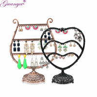 Guanya Metal Earrings Organizer Cup Love Shape Earring Holder Jewelry Display Necklace Display Rack Earring Srorage Showcase